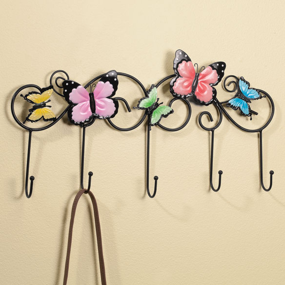 Wall Mount Butterfly Storage Hooks