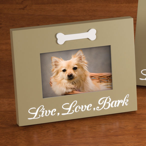 LED Live, Love, Bark Picture Frame - View 1