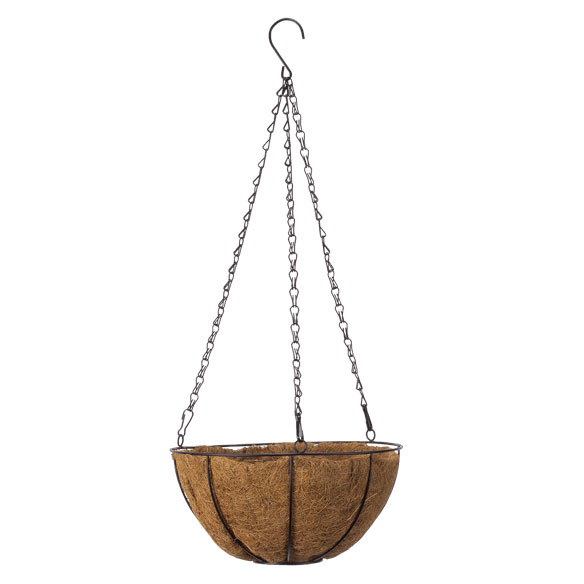 "10"" Coco Wire Hanging Basket"