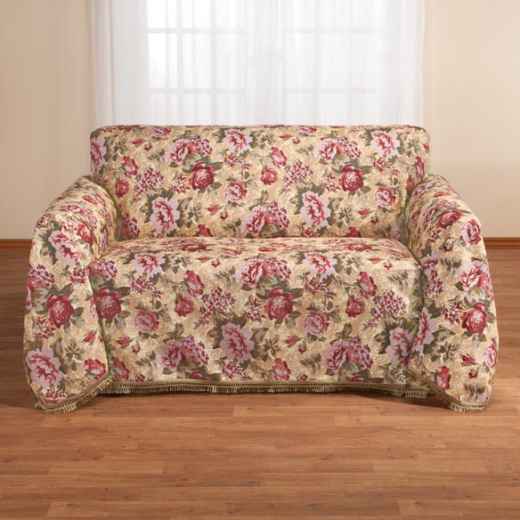 Floral Sofa Throw