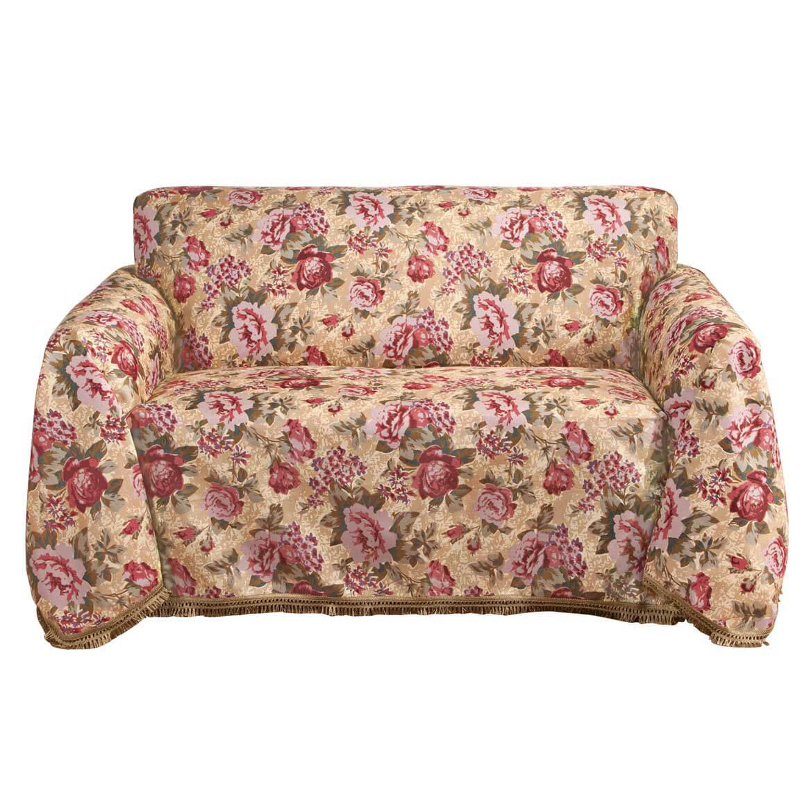 Floral Sofa Throw