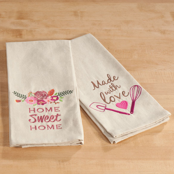 Embroidered Cotton Kitchen Towel