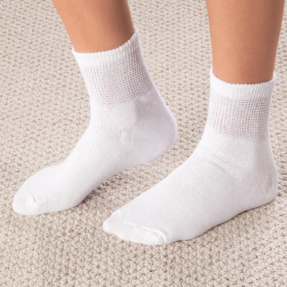 Healthy Steps™ Quarter-Cut Diabetic Socks, 3 Pack