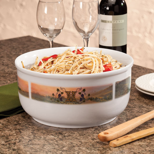 Personalized Tuscan Sunset Serving Bowl
