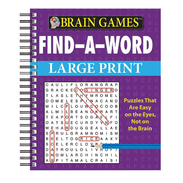 Brain Games™ Large Print Find-A-Word