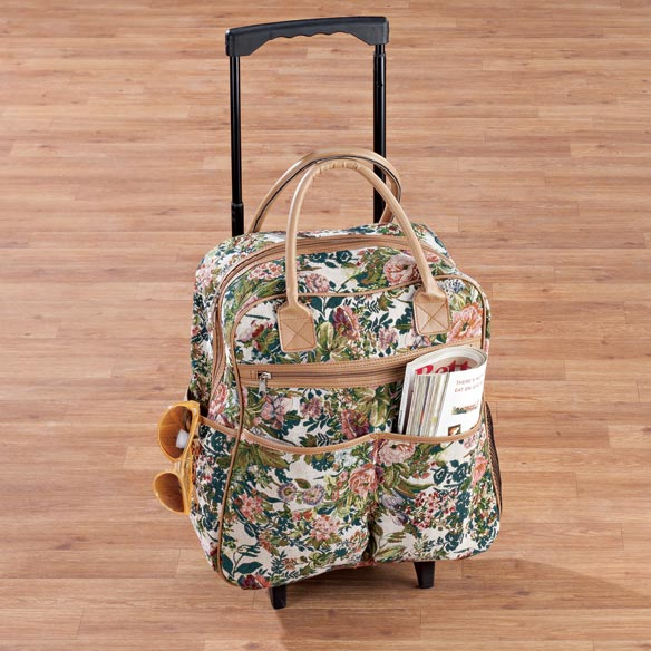 Floral Tapestry Rolling Bag - View 1