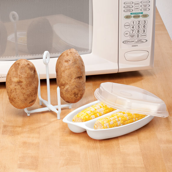 Microwave Potato Baker and Microwave Corn Steamer