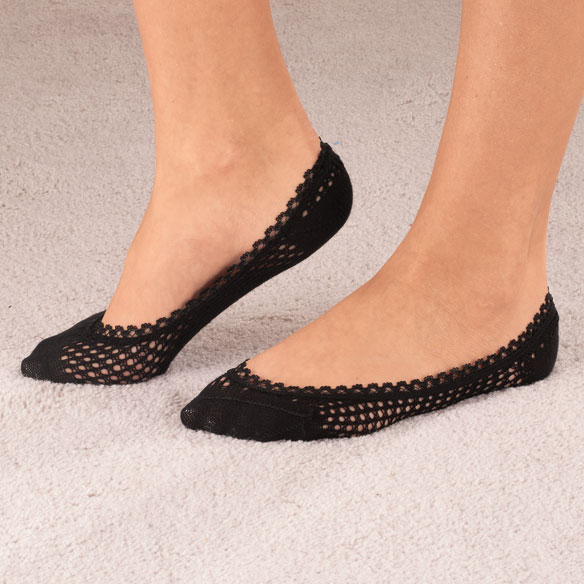 Lace Trim Cushioned Foot Liners, 1 pr.