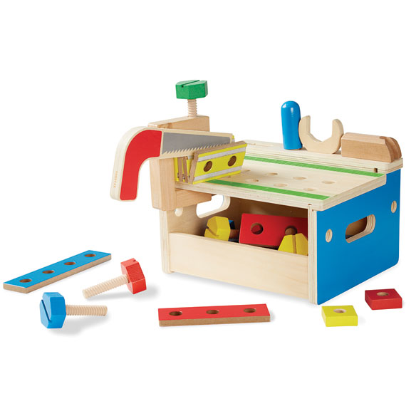 Melissa & Doug® Hammer & Saw Tool Bench - View 1