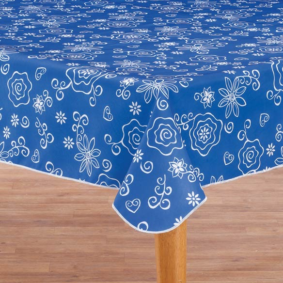Fanciful Flowers Vinyl Tablecovers
