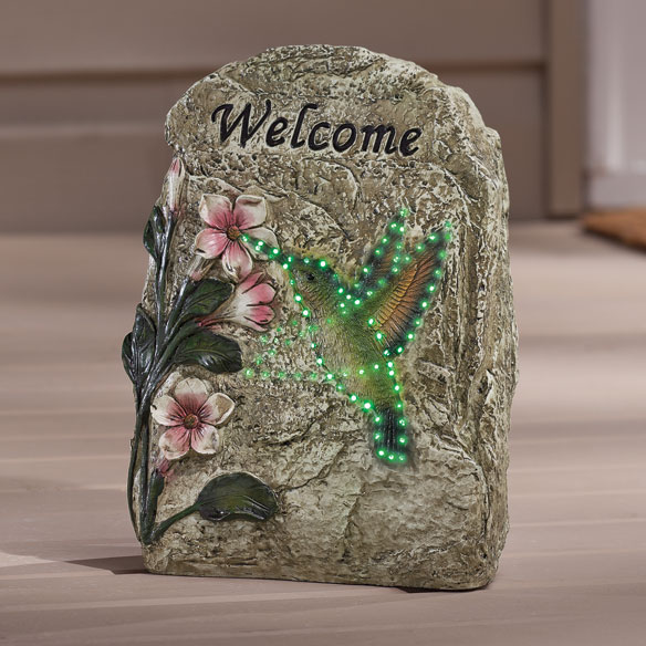 Hummingbird Solar Welcome Sign