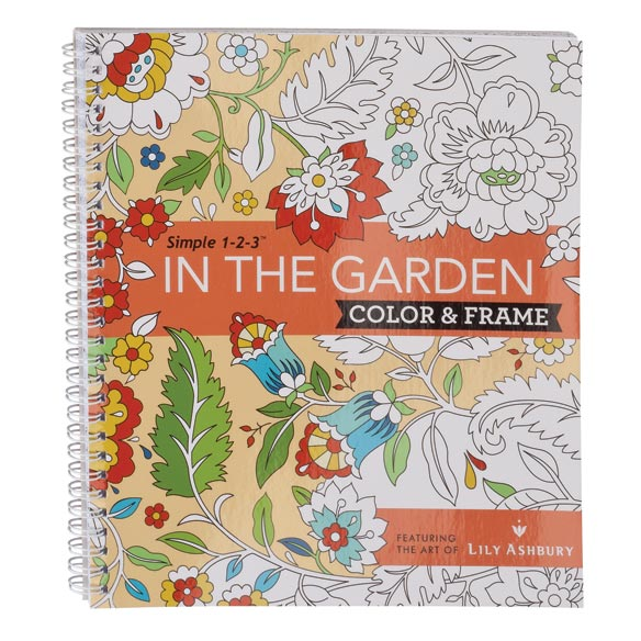 Adult Color & Frame Garden Coloring Book