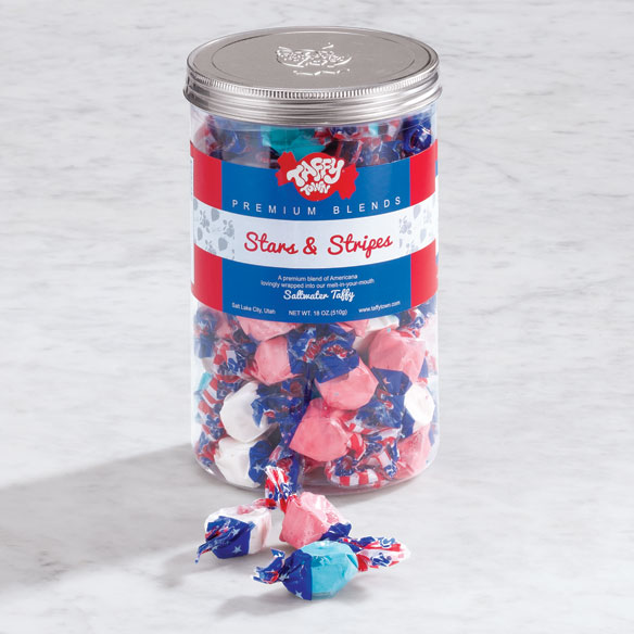 Stars and Stripes Taffy Canister