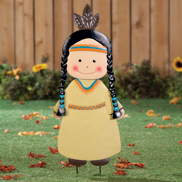 Native American Girl Lawn Stake by Maple Lane Creations™