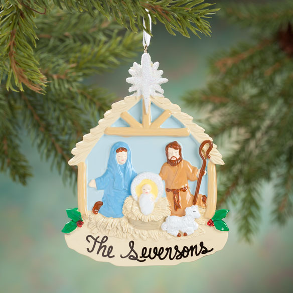 Personalized Nativity Scene Ornament