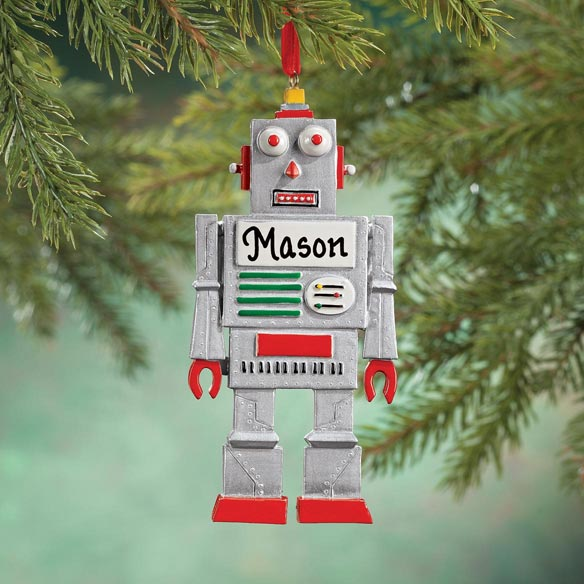Personalized Robot Ornament