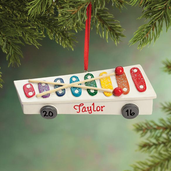 Personalized Xylophone Ornament