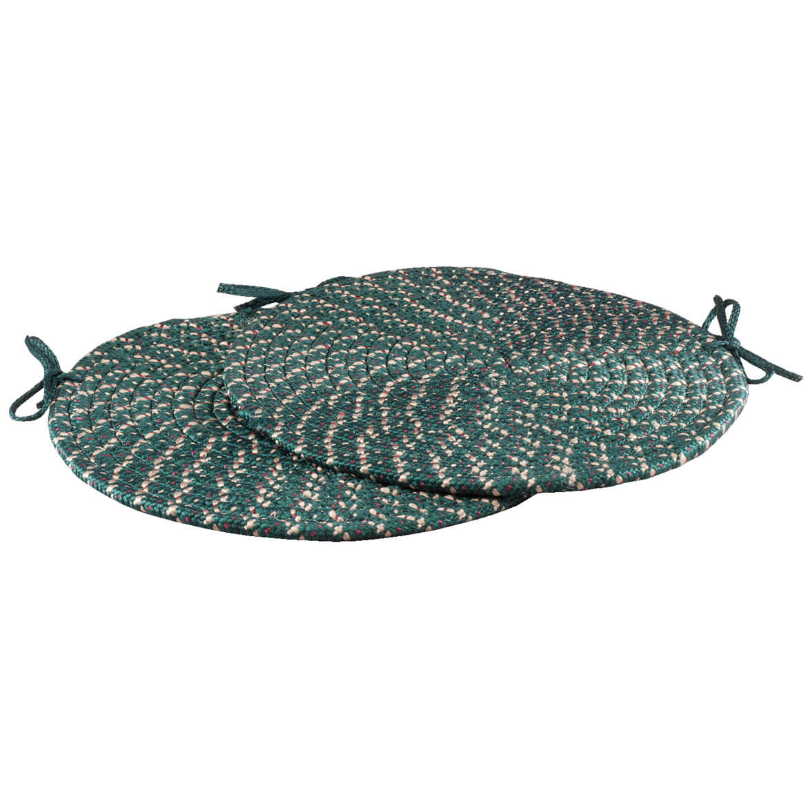 Braided Chair Pads Set of 2 Round Chair Cushions