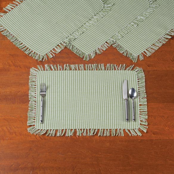 Homespun Woven Placemats, Set of 4 - View 1