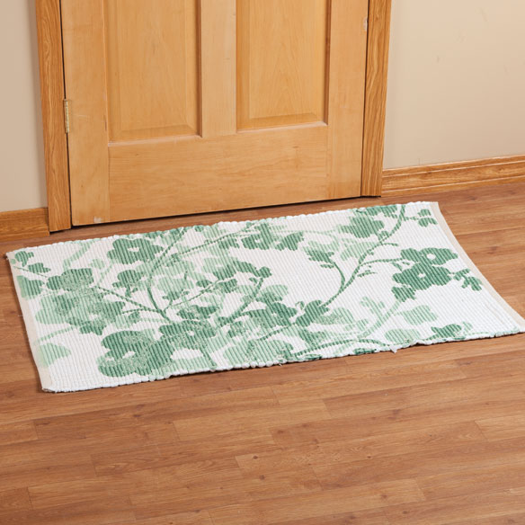 Floral Print Accent Rug