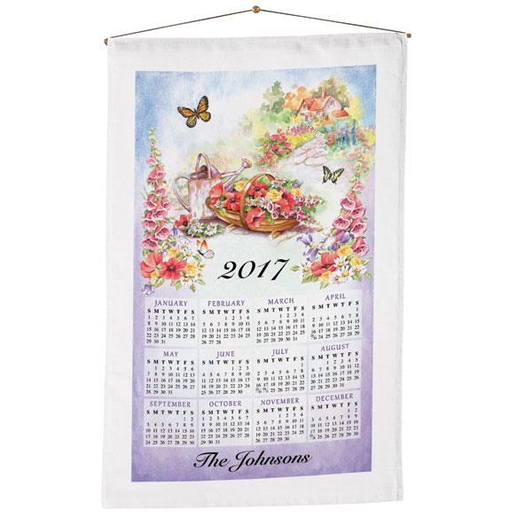 Personalized Gardening Calendar Towel - View 1