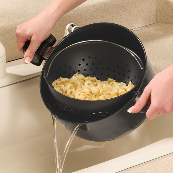 Non-Stick Easy-Strain Pot, 3 pieces