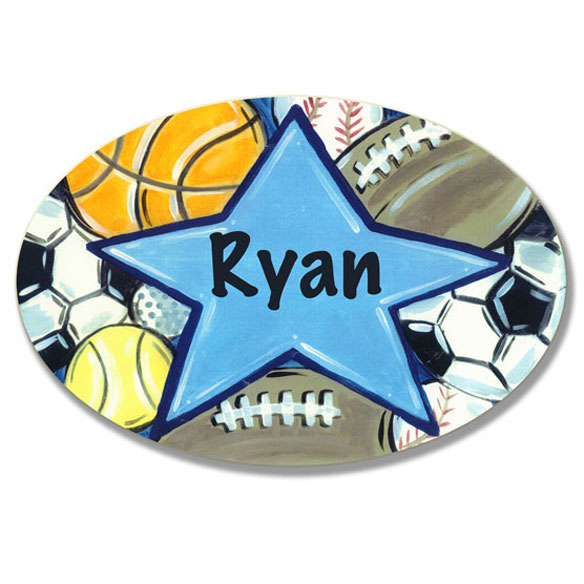 Personalized Sports Star Name Plaque - View 1