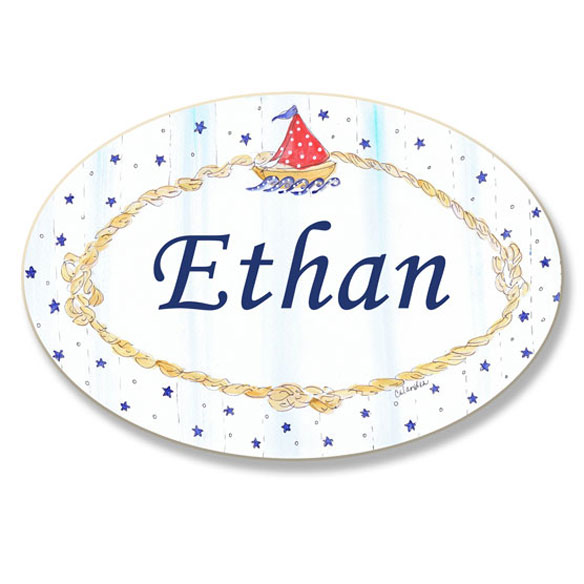Personalized Sailing Name Plaque