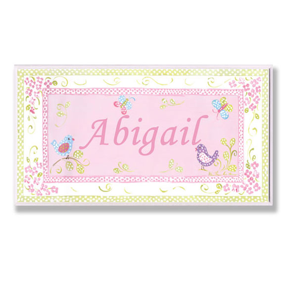 Personalized Garden Name Plaque - View 1