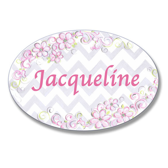 Personalized Pink Daisy Name Plaque