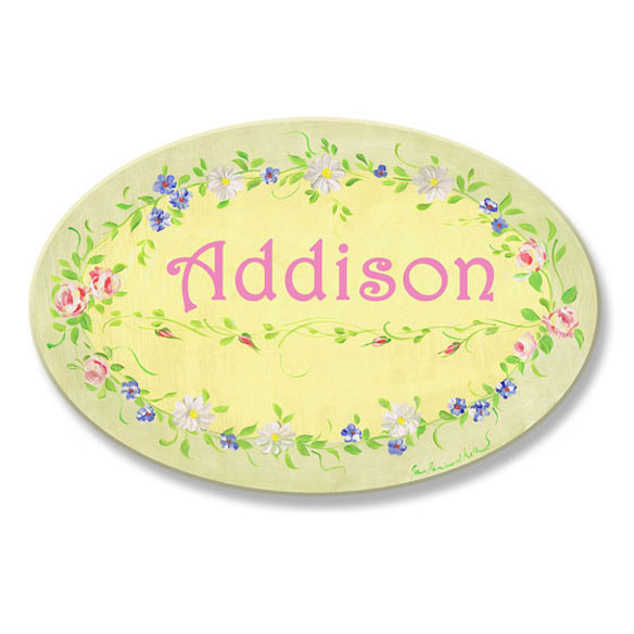 Personalized Spring Flower Plaque