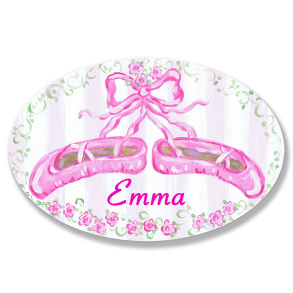 Personalized Ballet Slipper Name Plaque