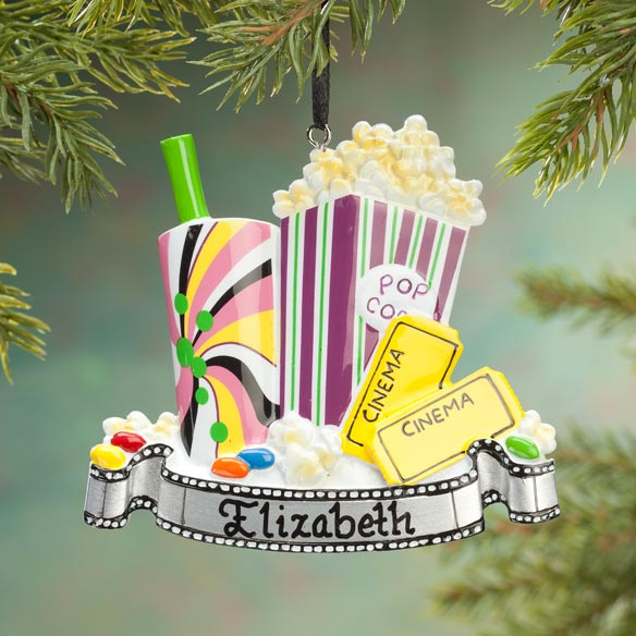 Personalized Movie Time Ornament