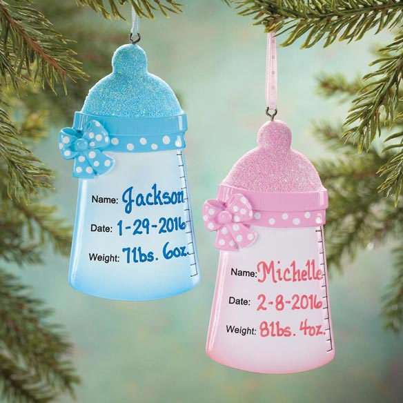 Personalized Baby Bottle Ornament
