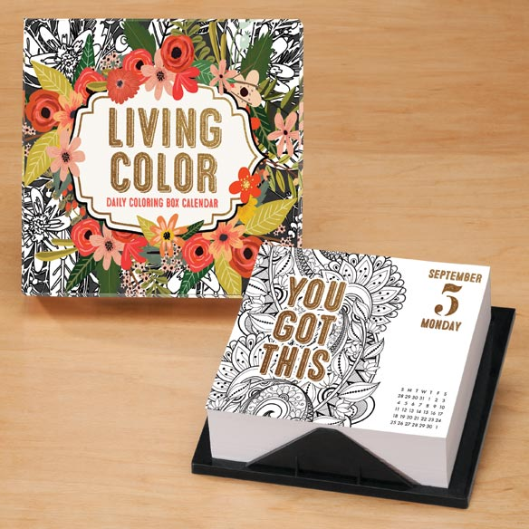 Living Color Page-A-Day Desk Calendar
