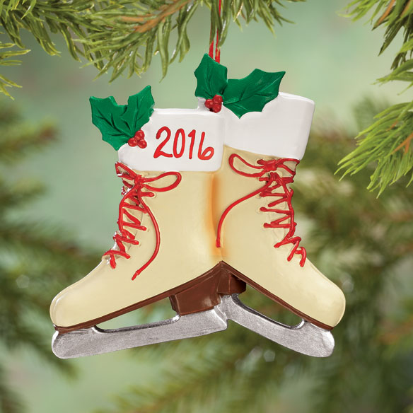 Personalized Vintage Skates Ornament