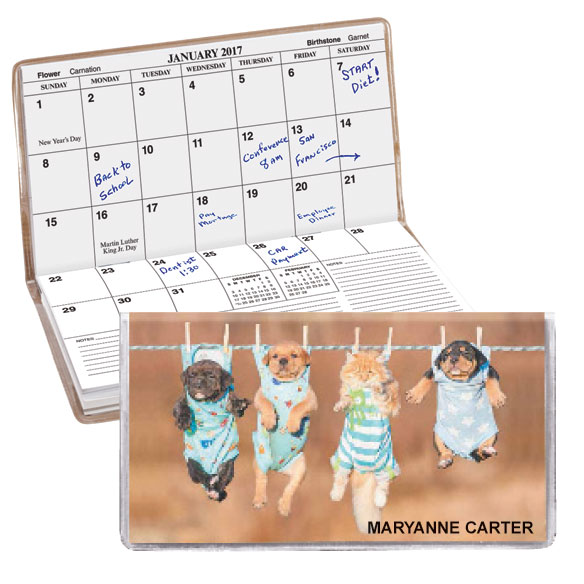 Personalized 2 Yr Planner Animal Friends