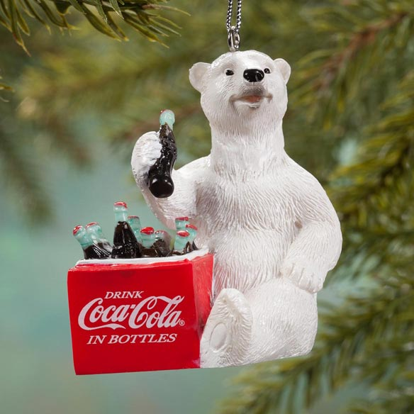 Coca-Cola® Polar Bear with Cooler Ornament