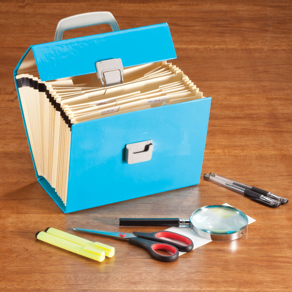 Expanding File Box with Accessories