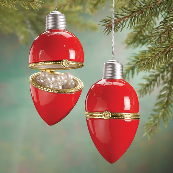 Light Bulb Trinket Box Ornament