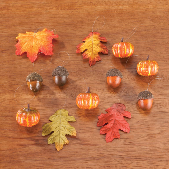 Harvest Ornaments, Set of 12