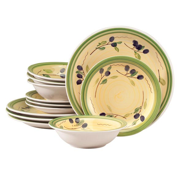 Olive Vista Stoneware, 12-pc. Set
