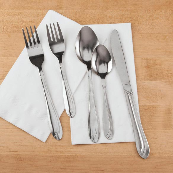 Classic Stainless Steel 20-Pc. Flatware Set