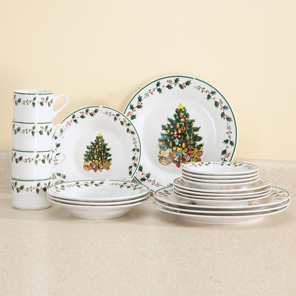 Tree Trimming Fine Ceramic Dinnerware