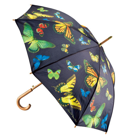 Multi Butterfly Cane Umbrella - View 1