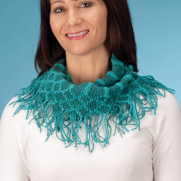 Fringe Knit Scarf - View 1