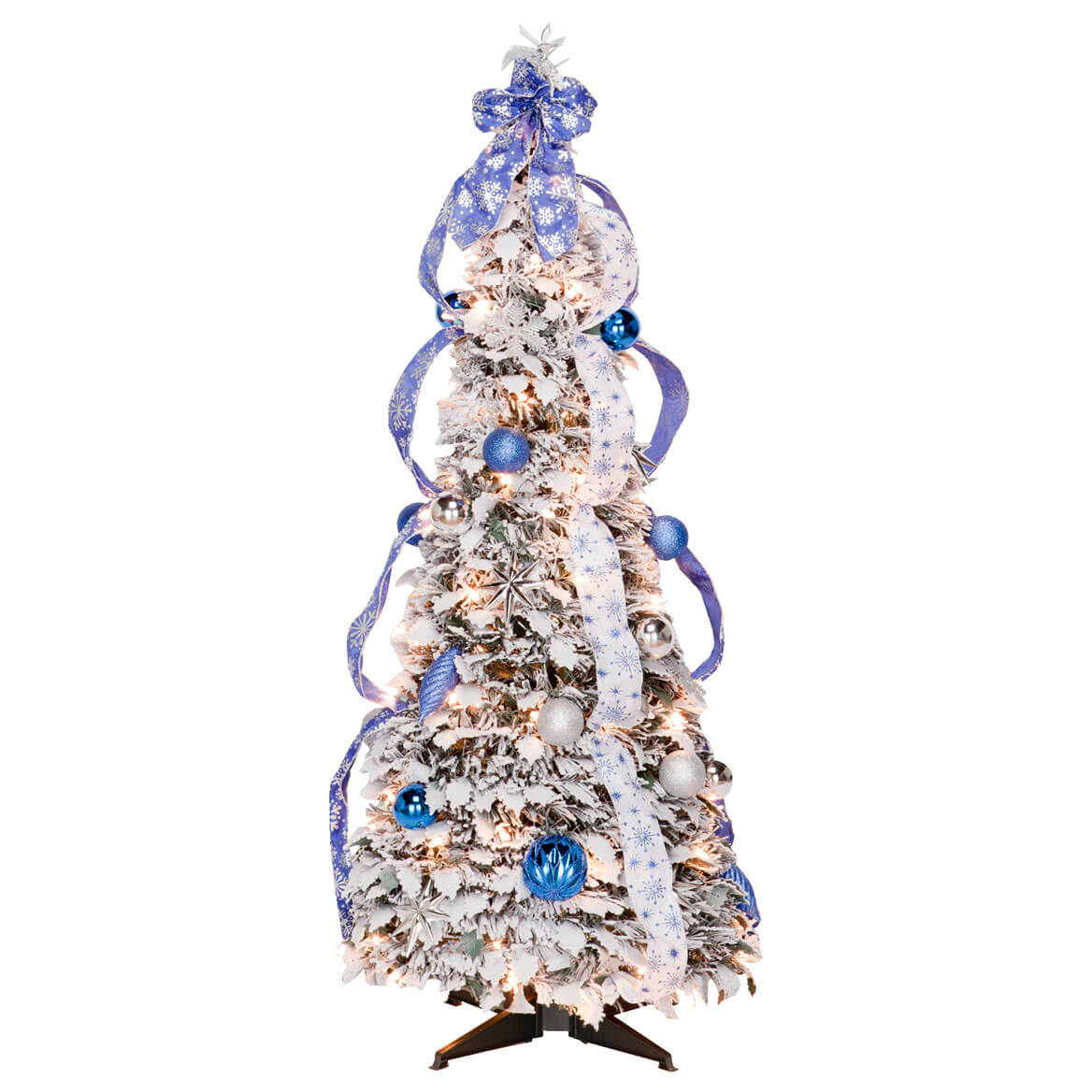 Pull up christmas tree reviews - 4 Foot Fully Decorated Flocked Pull Up Tree