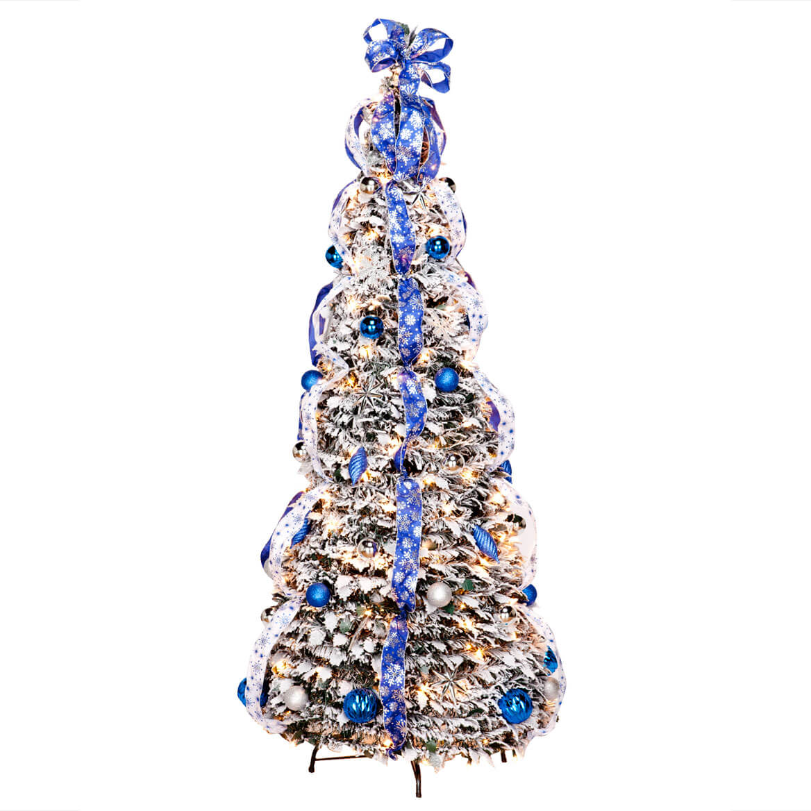 Pull up christmas tree reviews - 6 Foot Fully Decorated Flocked Pull Up Tree