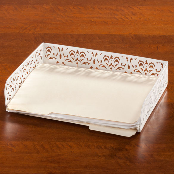 Damask Desktop Paper Tray - View 1
