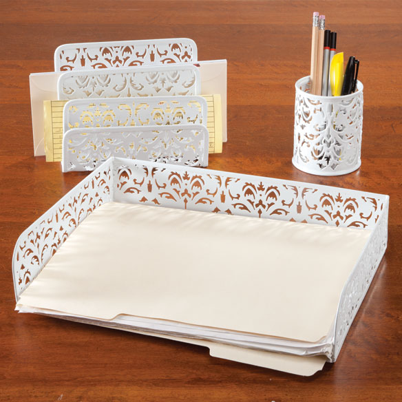 Damask Desktop Accessories, Set of 3